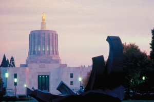 Oregon State Capitol at Sunset