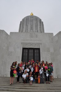 Our group on the capitol steps.